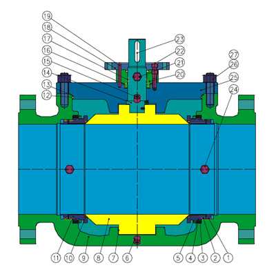 Top Entry Trunnion Mounted Ball Valves: API 6D